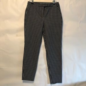 Abercrombie black and white polka dot ankle pants